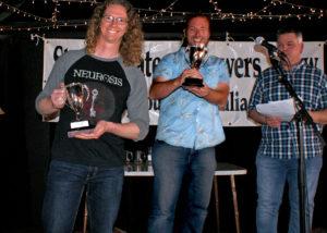 SABSOSA best brewer Keiren Vercoe (L) and best beer winner John Van der Zalm. [photo: Gary Waters/ SABSOSA/ Composite image]