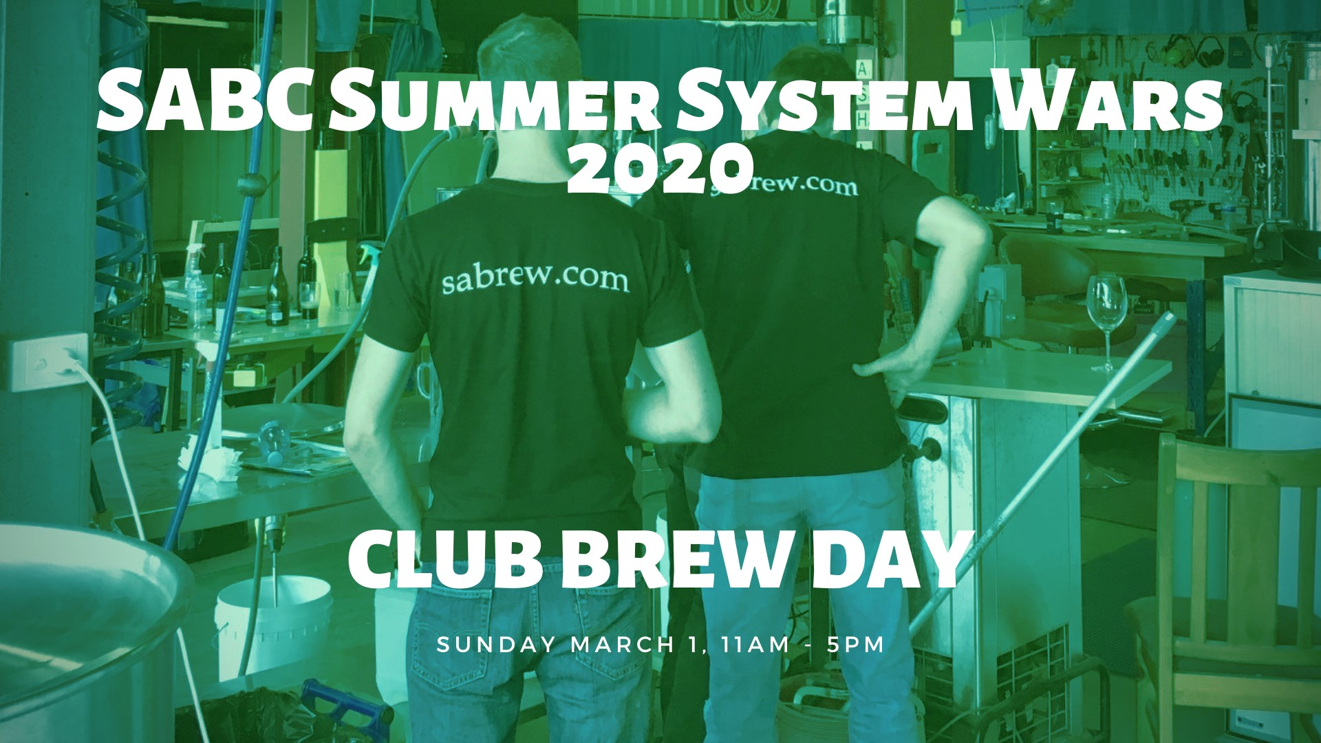 Collab club brew day on Sunday